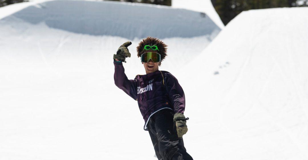 Raibu Katayama rides away after his last run at Red Bull Recharged at Mammoth Mountain, California, USA on 10 May, 2021. // SI202105120039 // Usage for editorial use only //